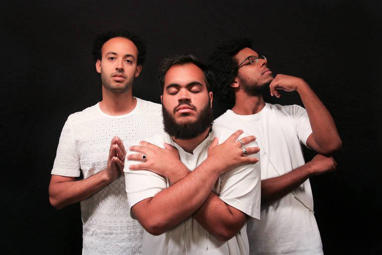 Trio Gilsons, formado José Gil (filho de Gilberto Gil) e por Francisco Gil e João Gil (netos)