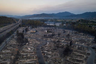 The Bear Lakes Estates neighborhood is left devastated by the Almeda fire in Phoenix, Oregon