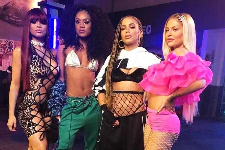 Lexa, MC Rebecca, Anitta e Luisa Sonza em Luisa Sonza 'Combatchy'