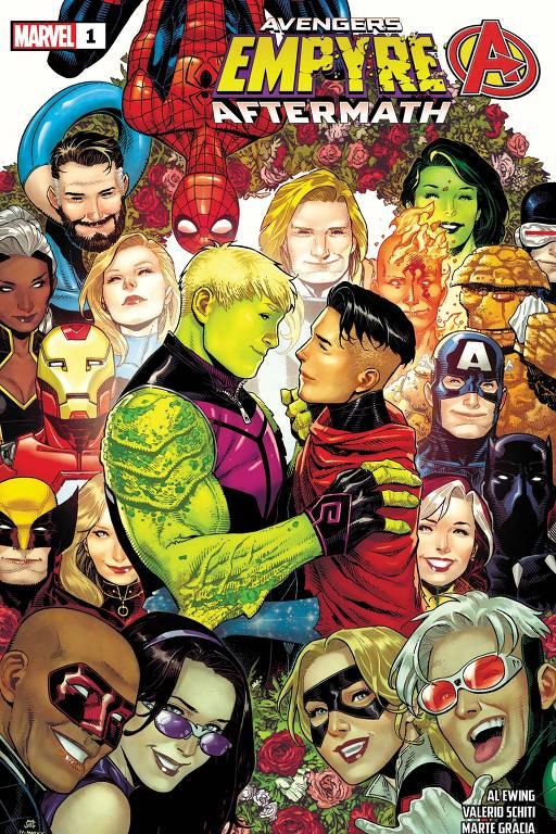 """Capa de """"Empyre Aftermath: Avengers"""", da Marvel, lançado nos Estados Unidos"""