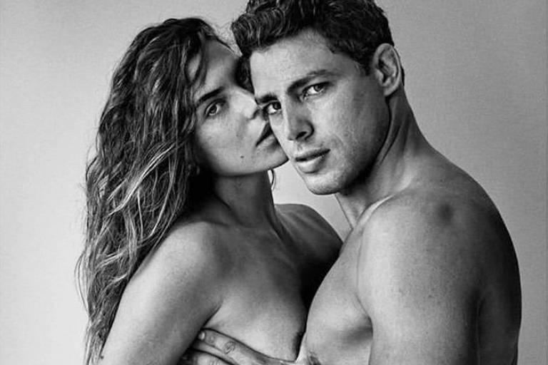 Cauã Reymond e Mariana Goldfarb aparecem nus em clique sensual de Mario Testino