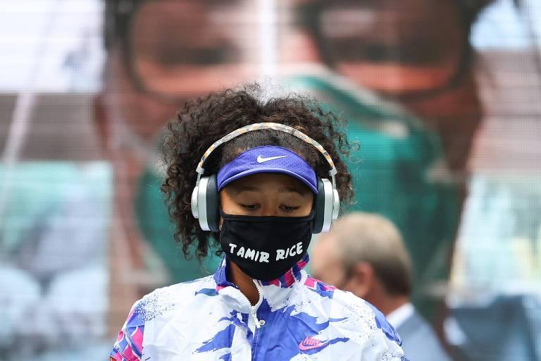 Naomi Osaka usou máscaras homenageando sete vítimas da violência policial nos EUA nas sete partidas que disputou no US Open