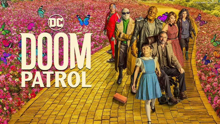 """Imagem promocional da série """"Doom Patrol"""", da DC"""