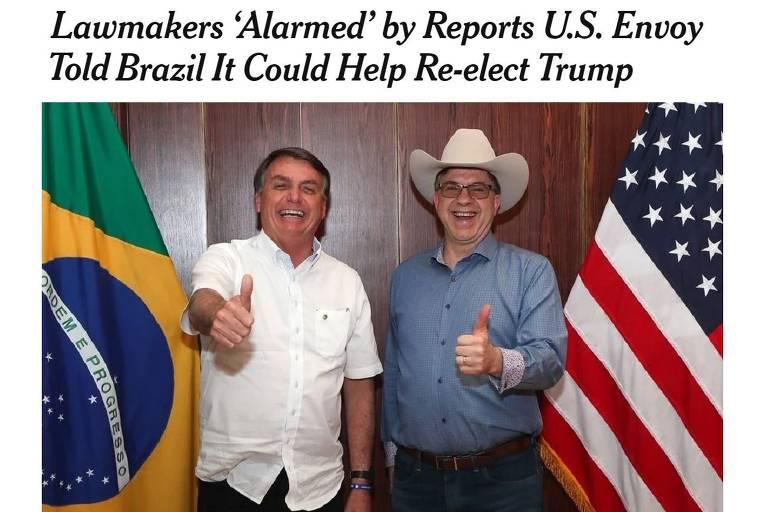 Bolsonaro faz campanha em Iowa, com dinheiro do Brasil