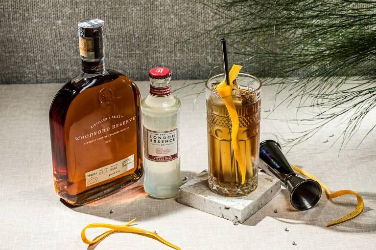 O drinque Horse's Neck, sugerido por Sylas Rocha, do Olívio Bar