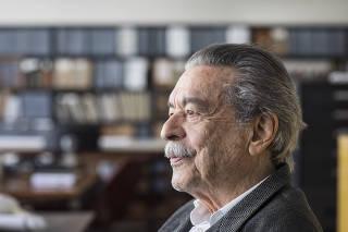 ***Especial Ilustrada*** Entrevista com arquiteto Paulo Mendes da Rocha em seu escritorio na rua Bento Freitas em Sao Paulo. Paulo Mendes fara 90 anos ainda esse ano
