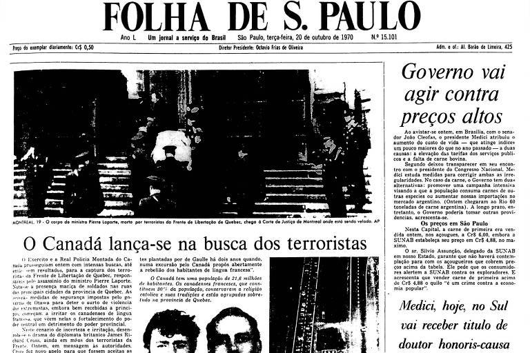 1970: Quebec tem presença maciça de soldados nas ruas após assassinato