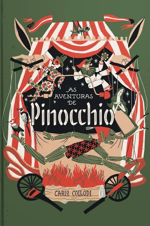 Capa do livro Pinóquio da editora Mojo