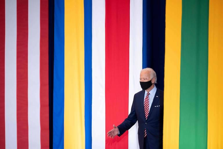 O candidato democrata à Presidência, Joe Biden, em evento para a comunidade latina em Kissimmee, no estado da Flórida