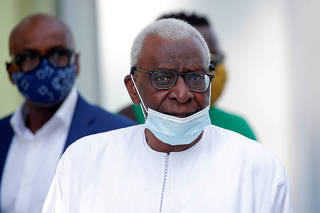 Former IAAF President Lamine Diack after verdict in his trial in Paris
