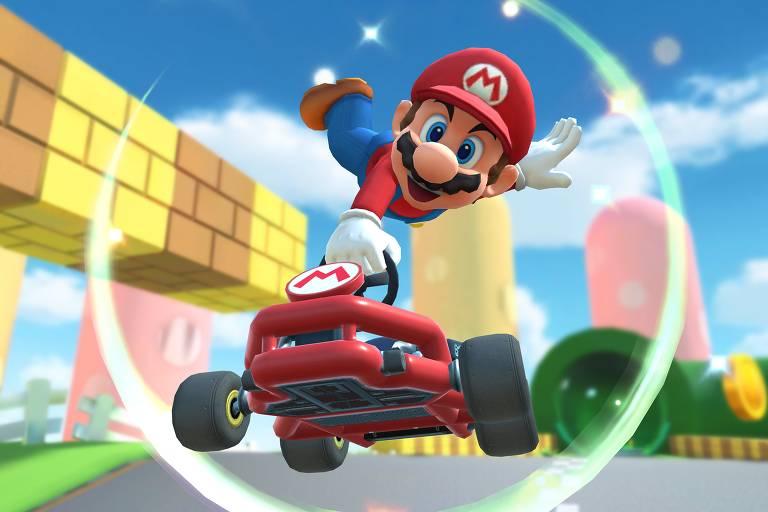 O jogo mobile 'Mario Kart Tour', de 2019