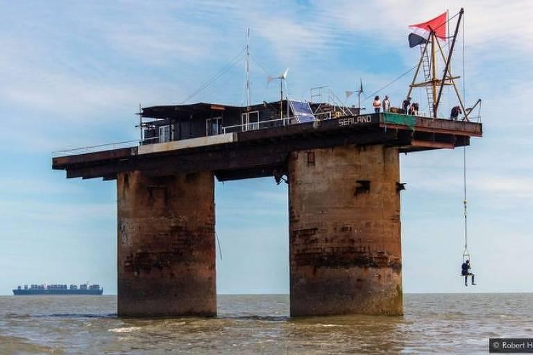Sealand foi fundada como um principado soberano em águas internacionais em 1967