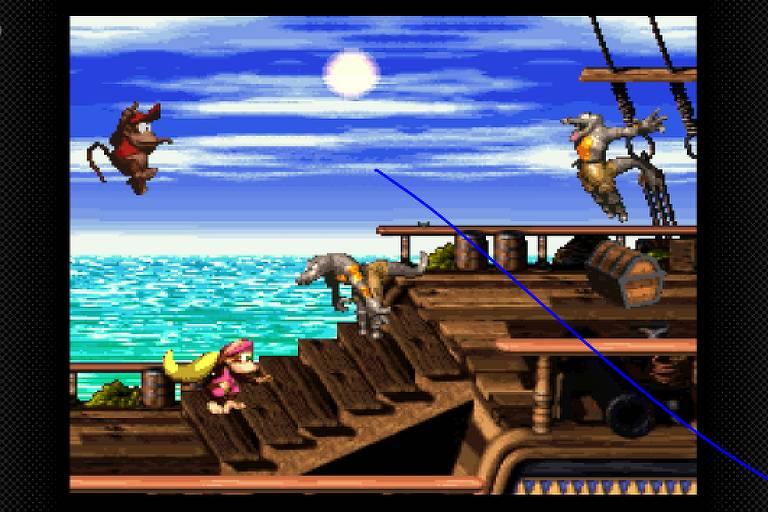 Imagem do jogo 'Donkey Kong Country 2'