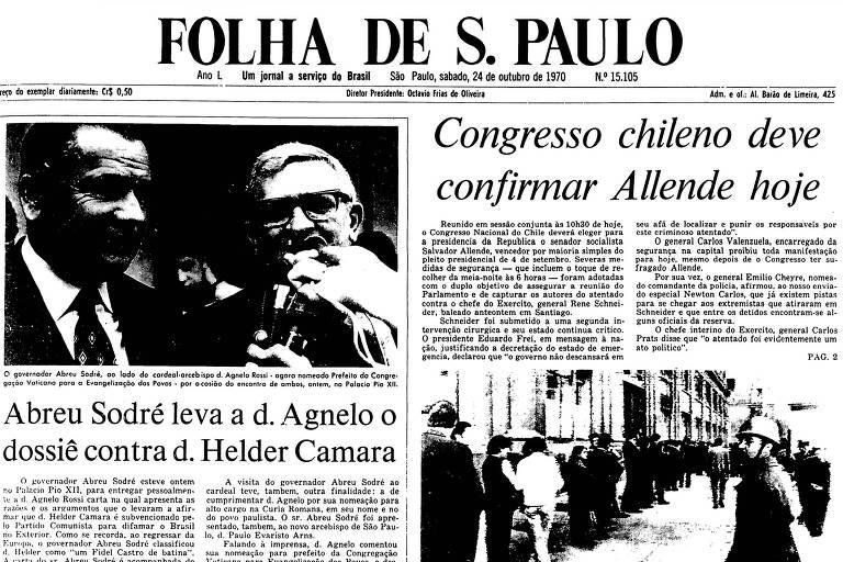 1970: Chile tenta assegurar sessão do Congresso que deve eleger Allende