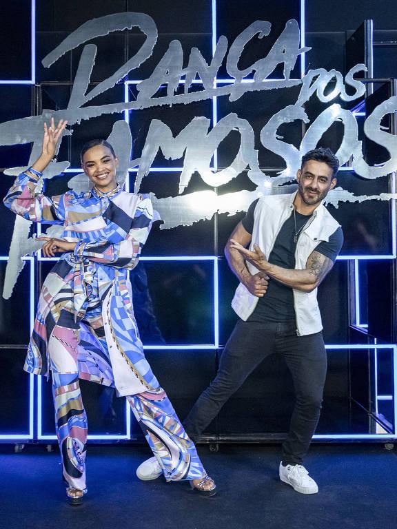 Lucy Ramos e Léo Santos