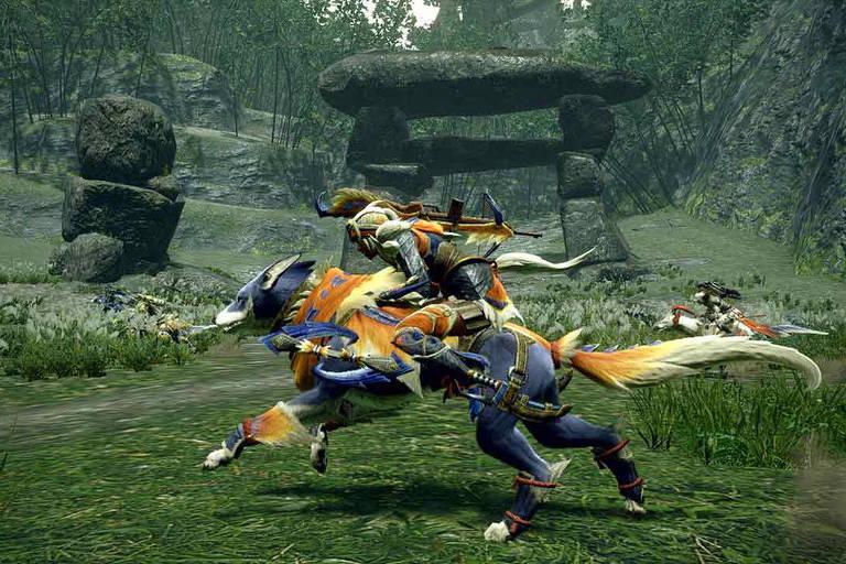 Imagens do game 'Monster Hunter Rise'