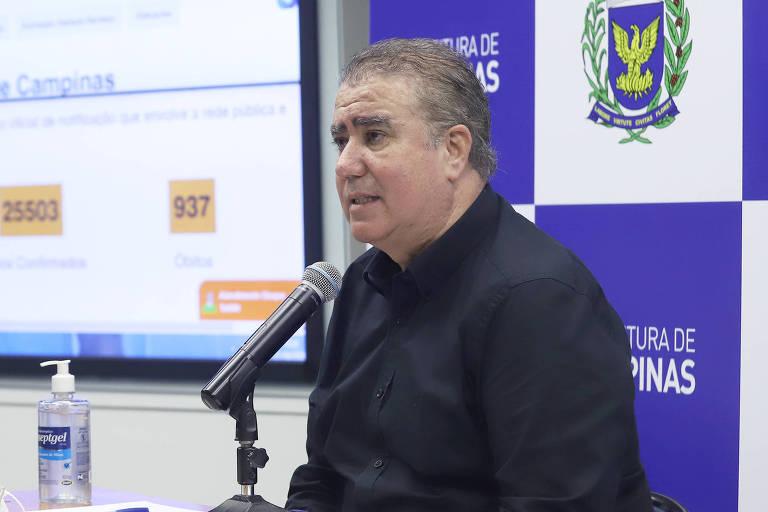 O prefeito de Campinas, Jonas Donizette (à dir.), em live