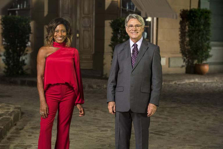 Globo Reporter - Sérgio Chapelin e Glória Maria.