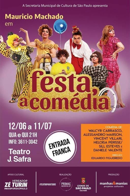 Cartaz de 'Festa, a Comédia'