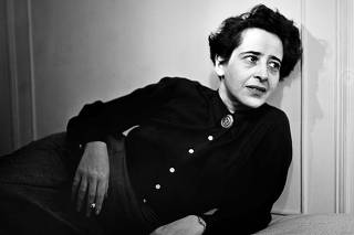HANNAH ARENDT    Hannah Arendt in 1944. Portrait by photographer Fred Stein (1909-1967) who emigrated 1933 from Nazi Germany to France and finally to the USA. 1944