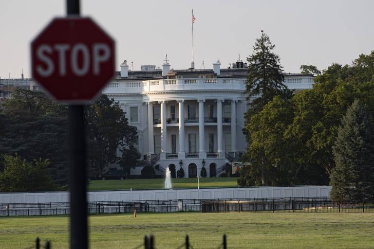 A Casa Branca, residência oficial do presidente dos EUA, em Washington