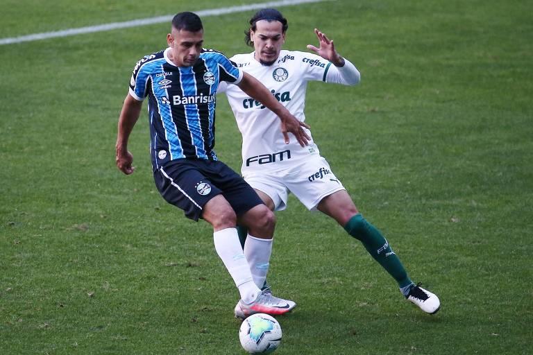 Grêmio e Palmeiras empataram em 1 a 1 pelo Campeonato Brasileiro