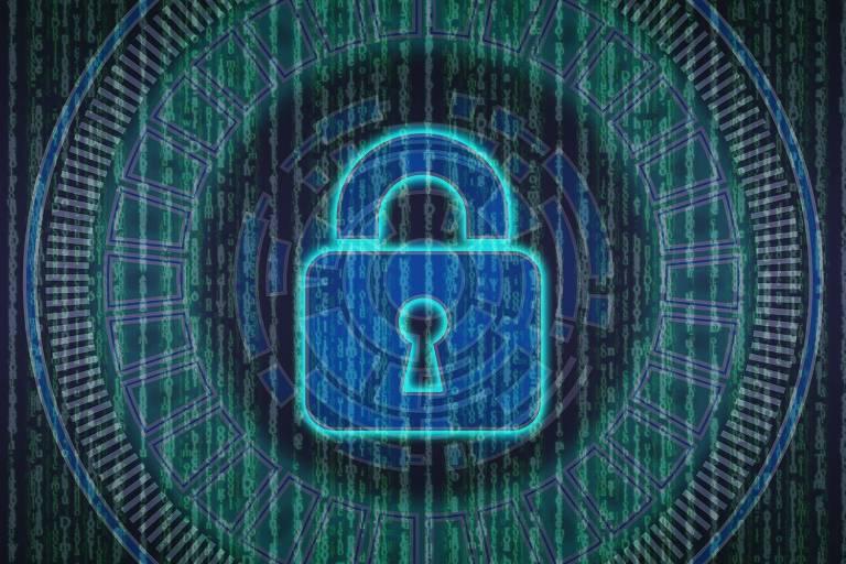 Ilustração proteção de dados