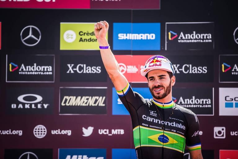 Henrique Avancini na etapa de Vallnord (Andorra) da Copa do Munco de Mountain Bike