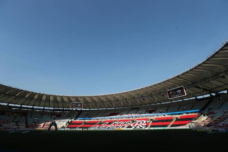 Maracanã antes da partida entre Flamengo e Fortaleza
