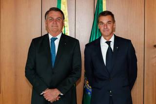 Presidente da República, Jair Bolsonaro, durante assinatura do Termo de Posse no novo Presidente do Banco do Brasil