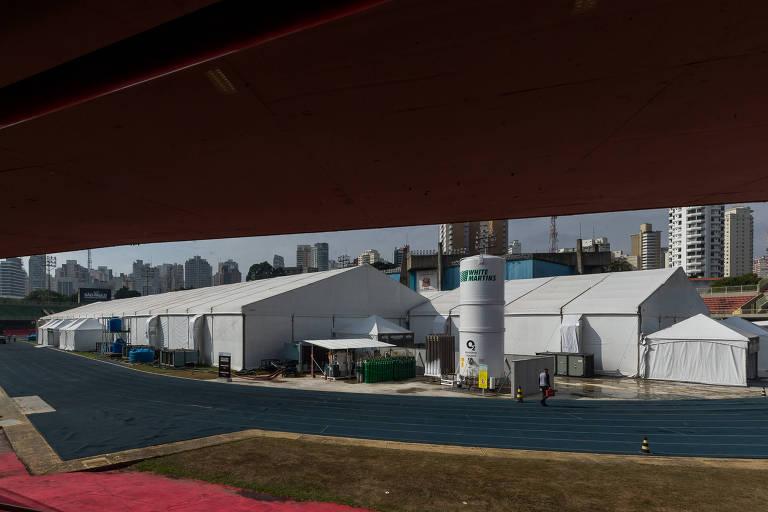 O hospital de Campanha do Ibirapuera no Combate ao Coronavírus