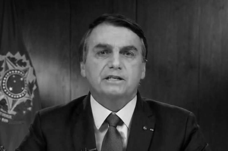 O presidente Jair Bolsonaro durante discurso de abertura na Assembleia Geral da ONU