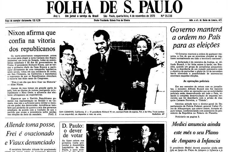 1970: Allende assume governo chileno, e EUA mandam 'mensagem oral'