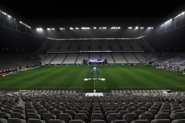 Itaquerão antes de Corinthians e Bahia pelo Campeonato Brasileiro