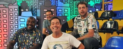 Programa Encrenca é apresentado por Tatola Godas, Dennys Motta, Ricardinho Mendonça e Ângelo Campos