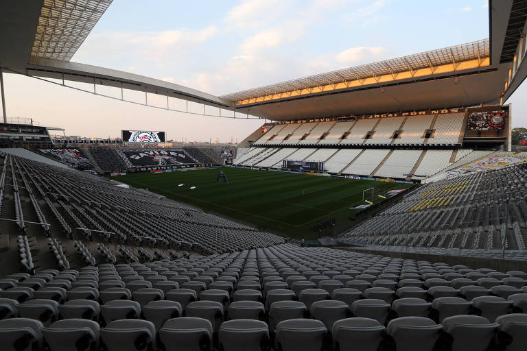 Estádio do Corinthians antes do clássico contra o Palmeiras