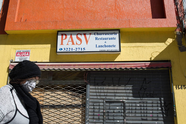 A fachada fechada do PASV, no centro de São Paulo