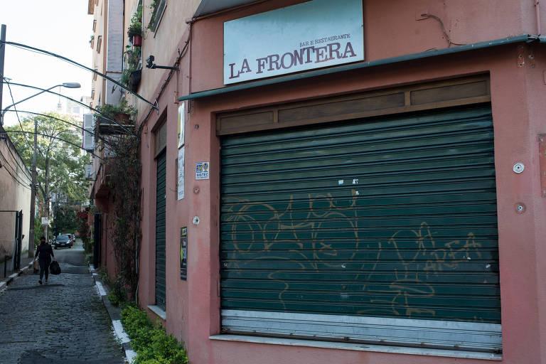 O restaurante La Frontera, em Higienópolis, que encerrou suas atividades