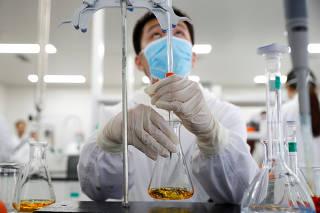 Media tour at Chinese vaccine maker Sinovac Biotech in Beijing