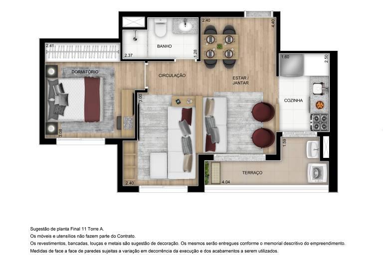 Planta 47 m²