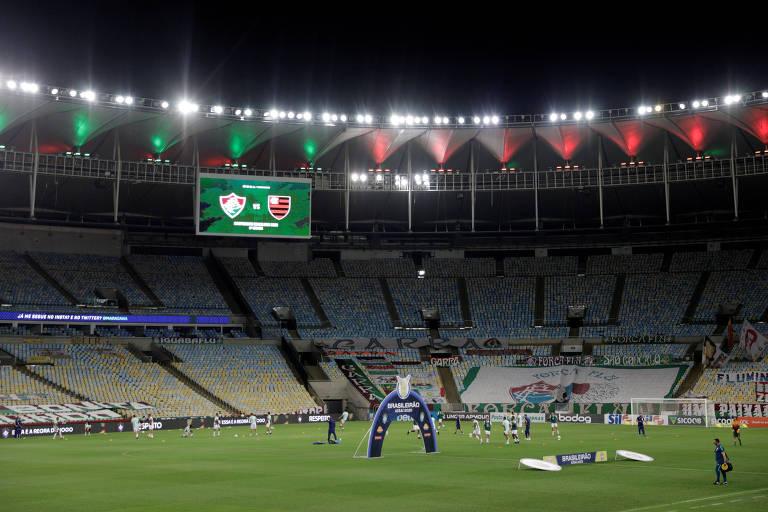 O Maracanã antes de Fluminense e Flamengo pelo Brasileiro