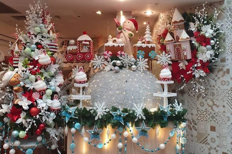 Decoração de Natal em loja especializada