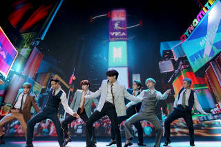 FILE PHOTO: Band BTS performs during the 2020 MTV VMAs