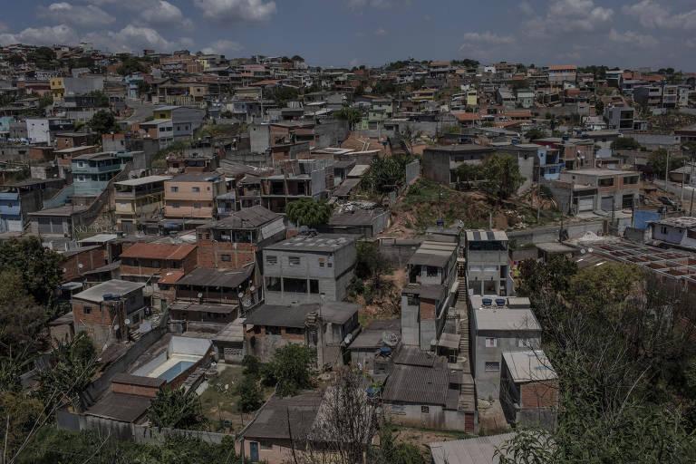 Vista aérea do bairro Jardim São João, em Francisco Morato