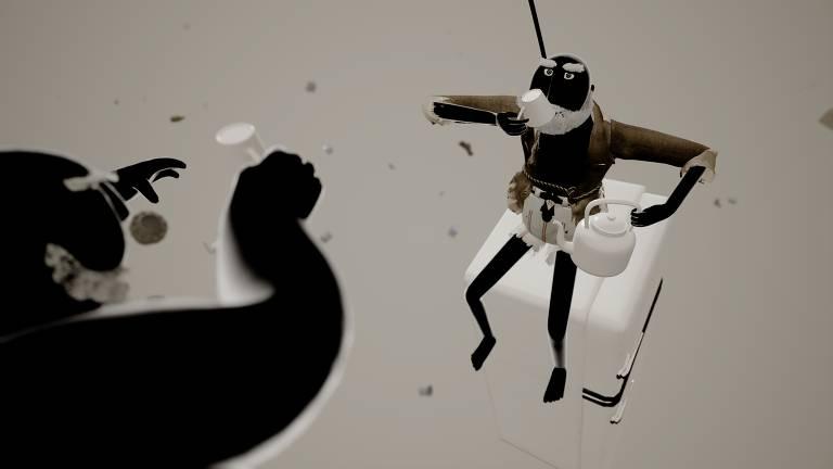 """Cena do curta """"Gravidade VR"""""""