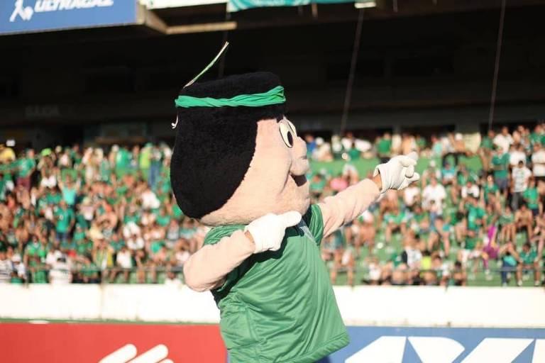 Mascote do Guarani em partida do clube