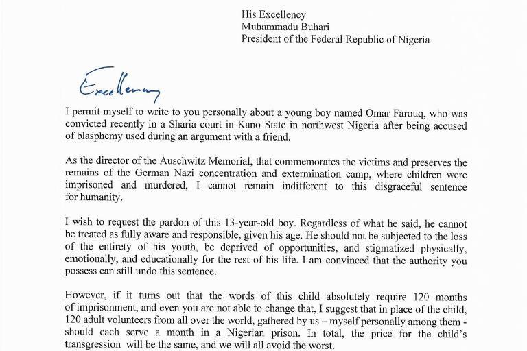 Diretor do Memorial de Auschwitz pede para cumprir parte de pena de nigeriano de 13 anos
