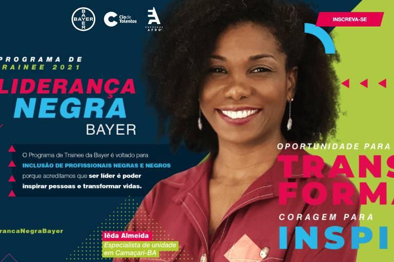 Bayer realiza programa de trainee exclusivo para pessoas negras