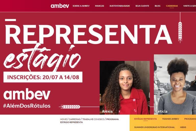 Ambev fez sua primeira contratação exclusiva de estragiários negros em 2020