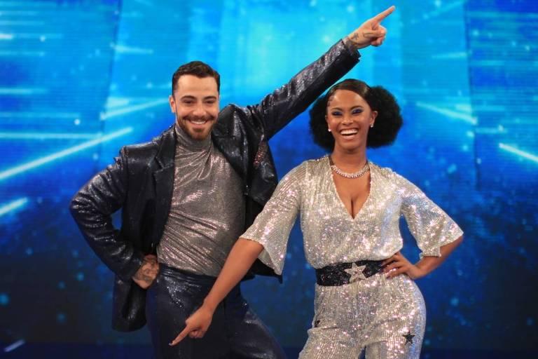 Felipe Titto e Brennda levaram a melhor na Dança dos Famosos